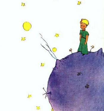 O Pequeno Principe, aquarela de Saint-Exupery