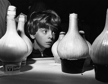Boy Looking Shocked by Large Onions, Terry Cryer